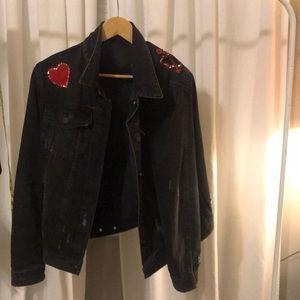 Love charcoal denim jacket